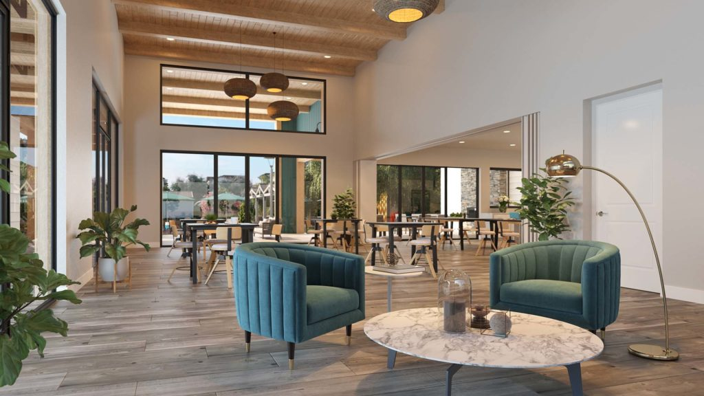 Main Room in The Clubhouse at Bridgeway